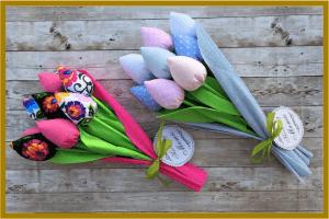 pluszowe tulipany handmade