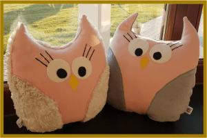 sowa poduszka handmade oplotki