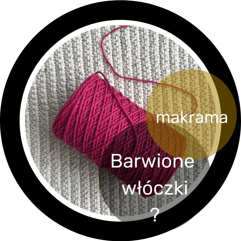 barwiony sznurek