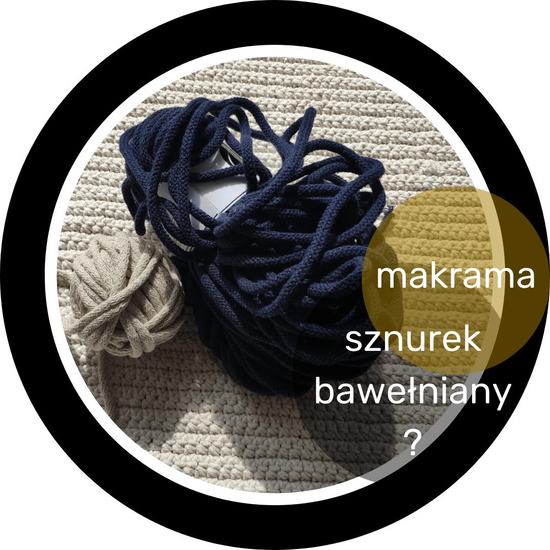 sznur bawełniany do makramy