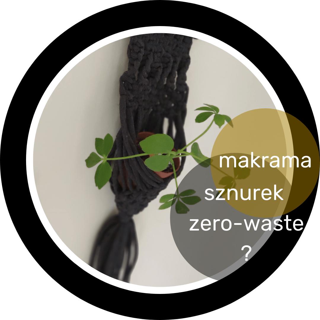 sznurek zero-waste do makramy
