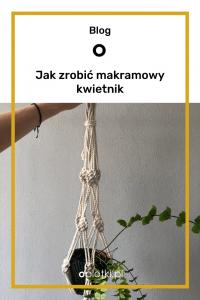 kwietnik ze sznurka do powieszenia