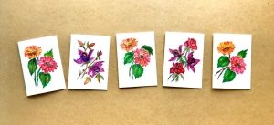 tetu art kartki ręcznie malowane
