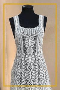 sukienka koronka klockowa